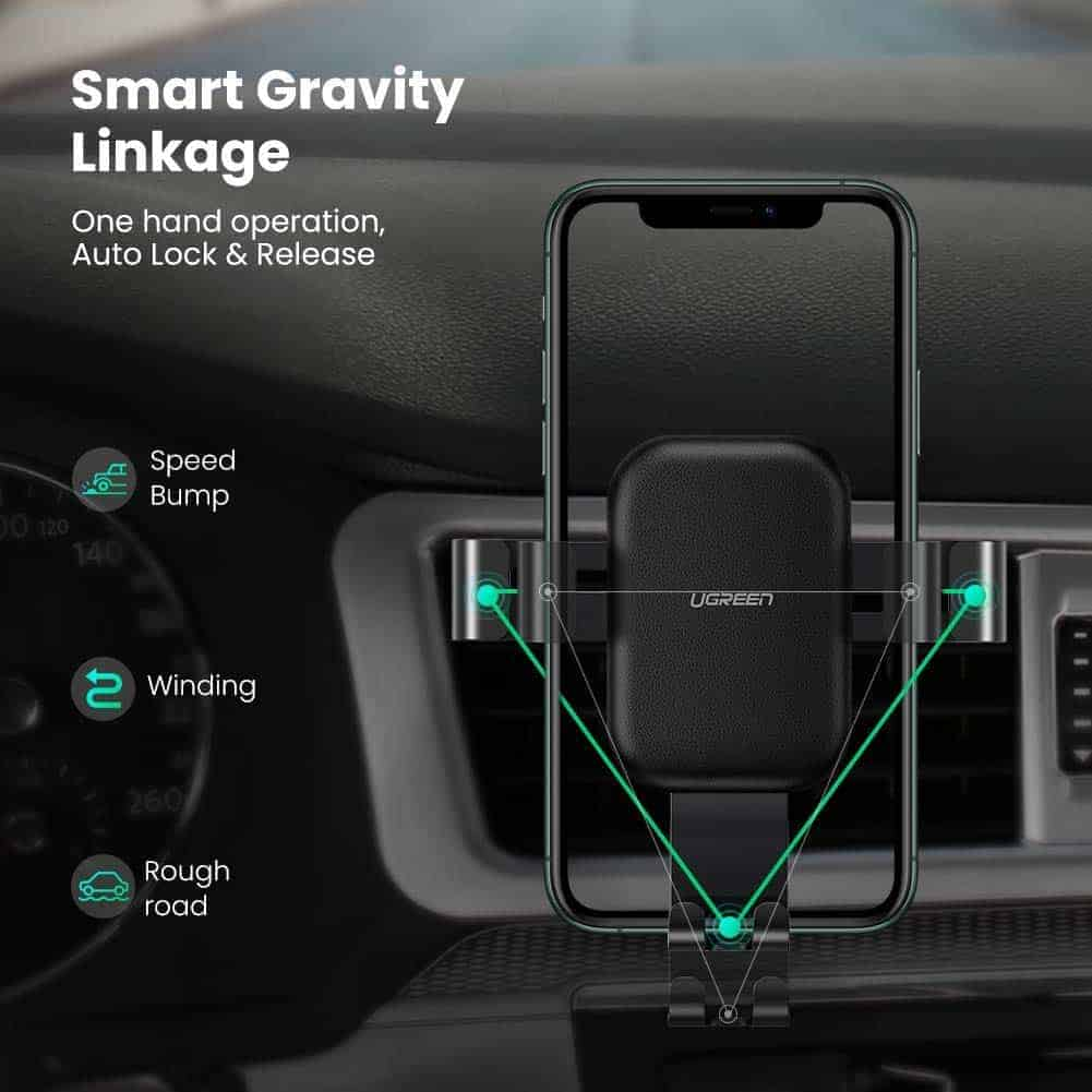UGREEN wireless car mount and wireless charger image 2