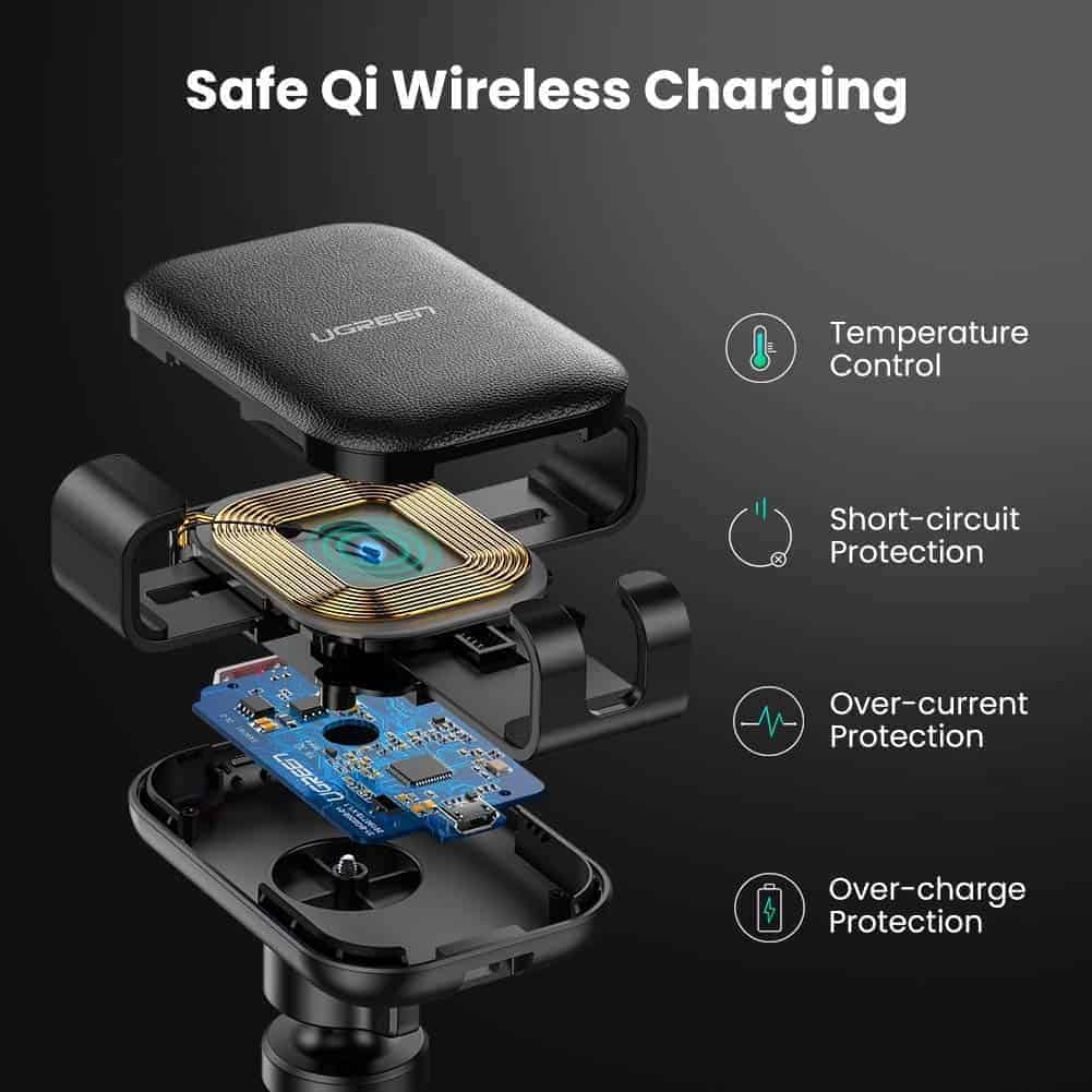 UGREEN wireless car mount and wireless charger image 5