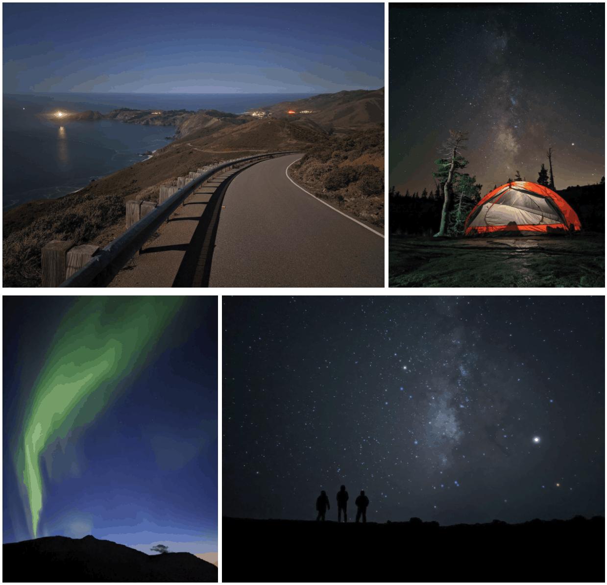 google astrophotography Scene composition 4