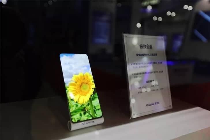 visionox bezel less smartphone