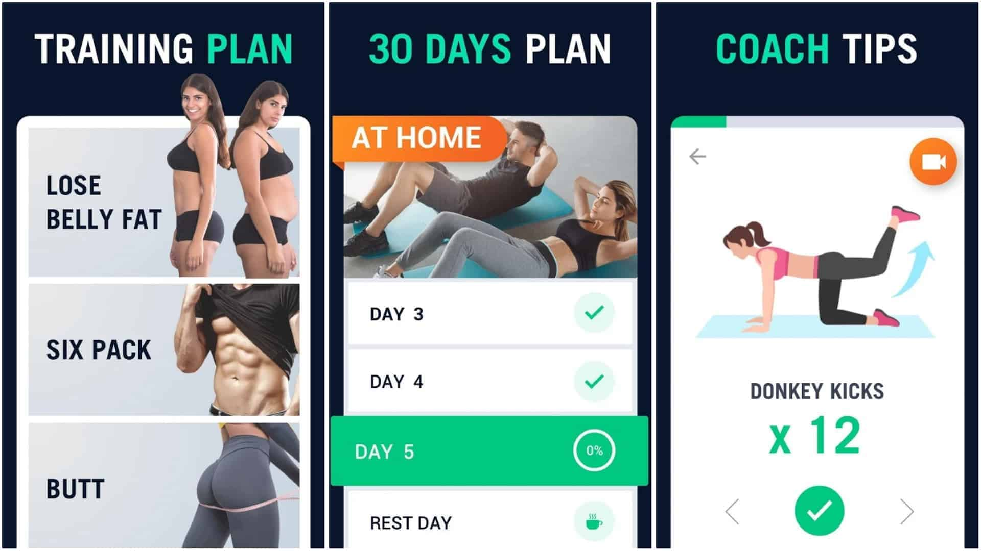 30 Day Fitness Challenge Workout at Home app image January 2020