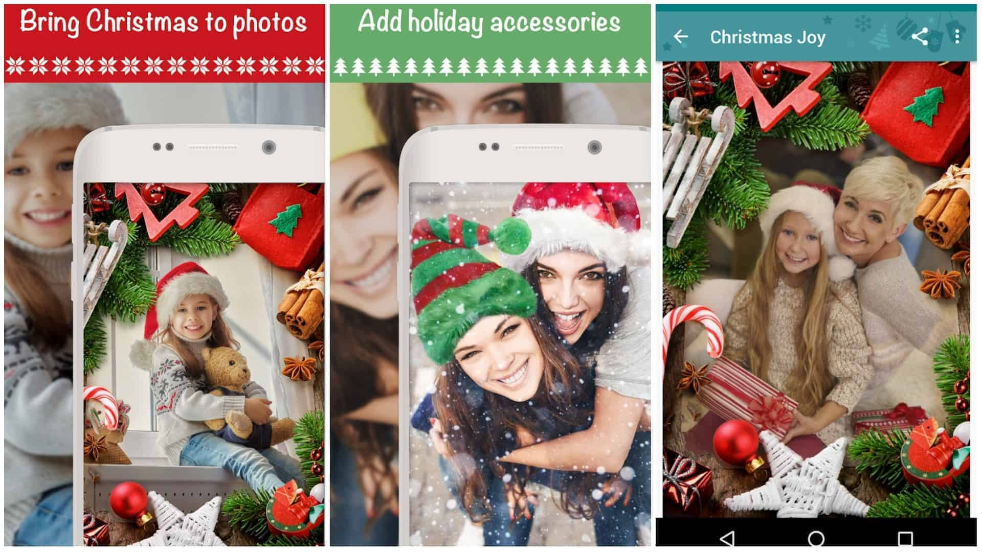 Christmas Photo Frames Effects Cards Art app image December 2019