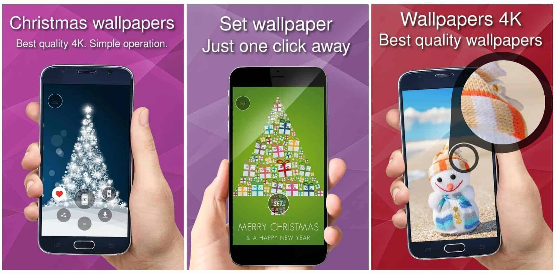 Christmas wallpapers app image December 2019