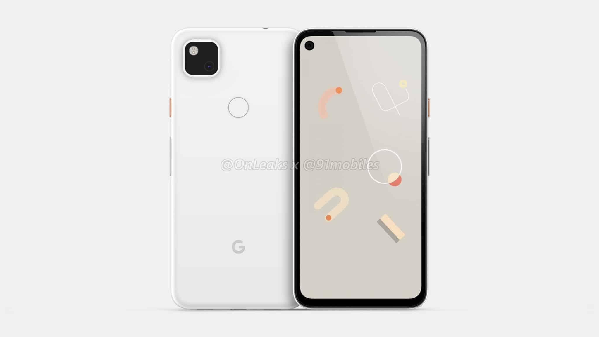Google Pixel 4a CAD render leak 2
