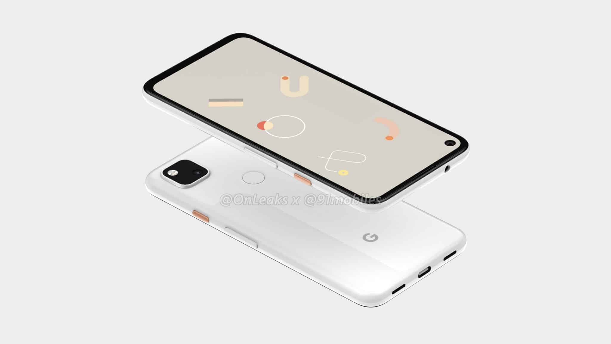 Google Pixel 4a CAD render leak 3