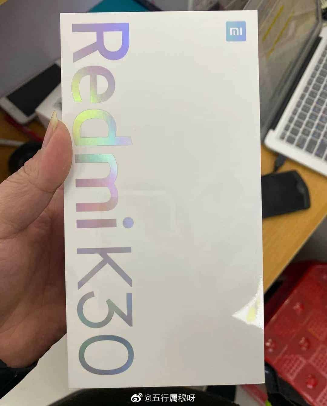 Redmi K30 retail box leak 1