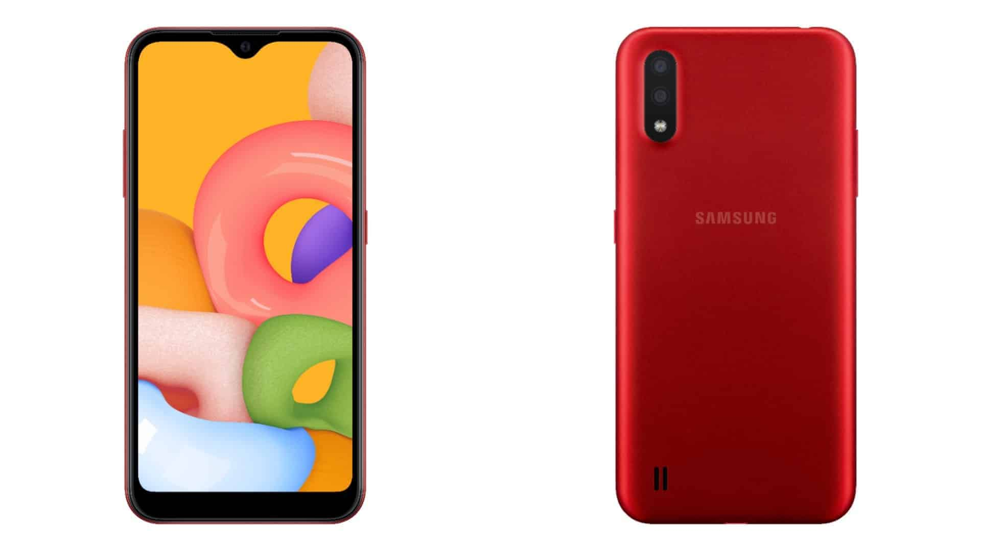 Samsung Galaxy A01 render featured