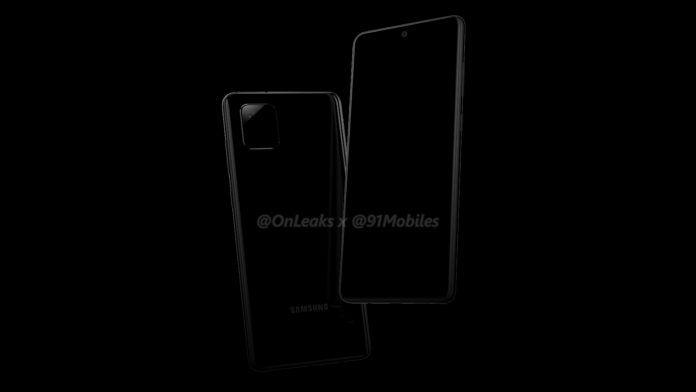 Samsung Galaxy Note 10 Lite aka Galaxy A81 render leak 2