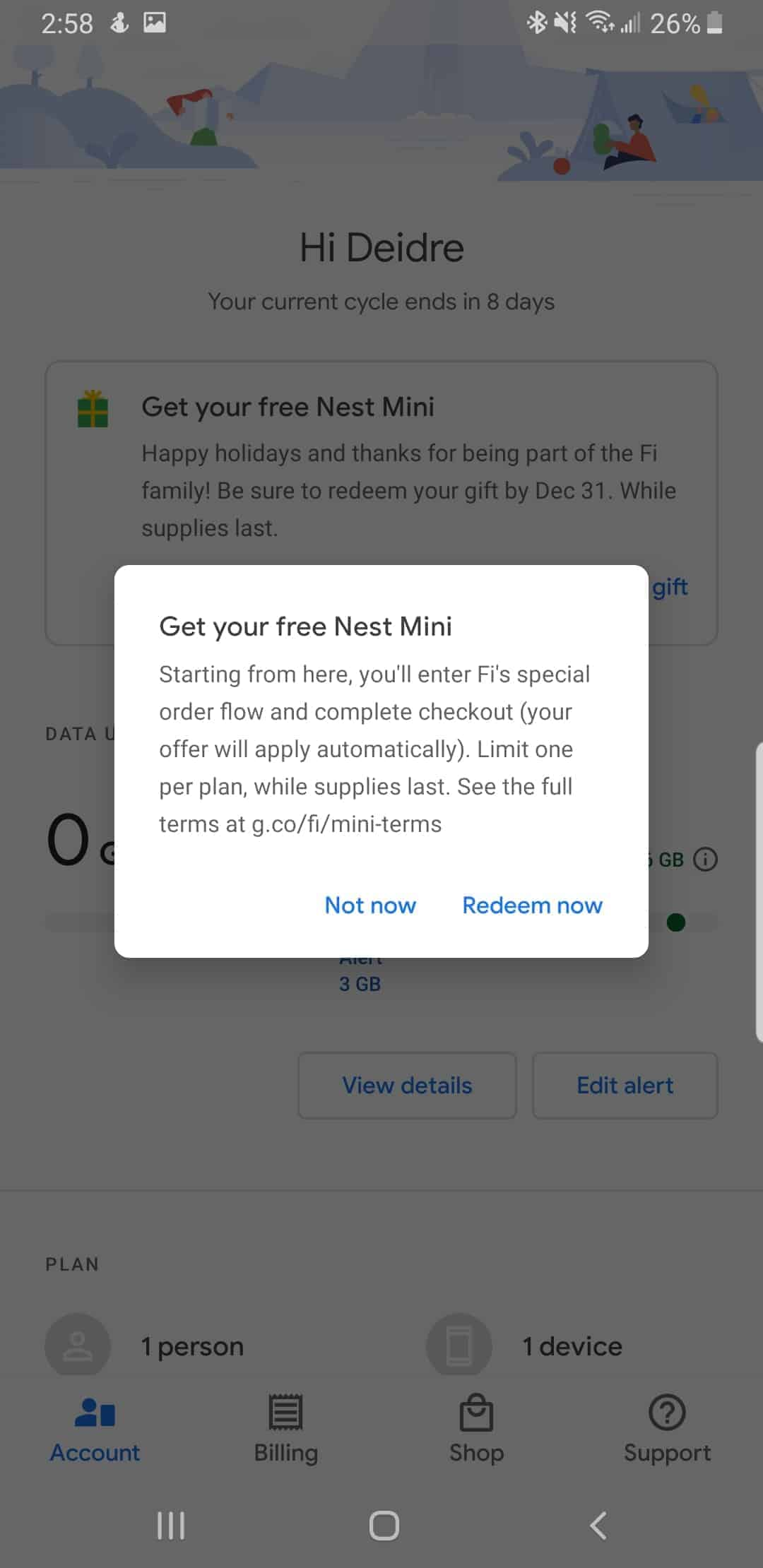 Google Fi Nest Mini free 2