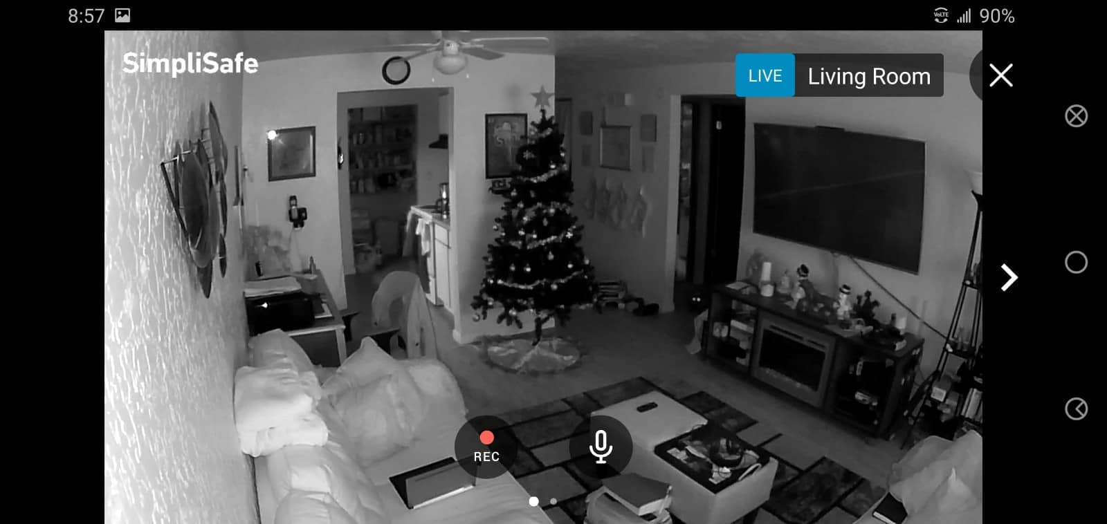 SimpliSafeReview House Footage Night 01