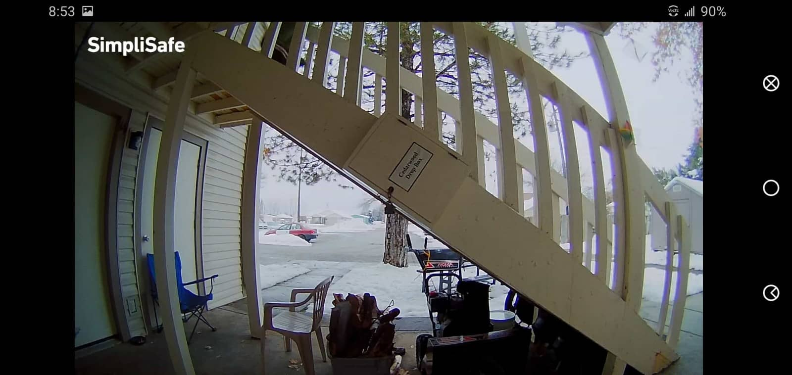 SimpliSafeReview Porch Footage Day 01