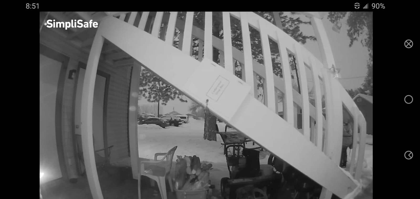 SimpliSafeReview Porch Footage Night 01