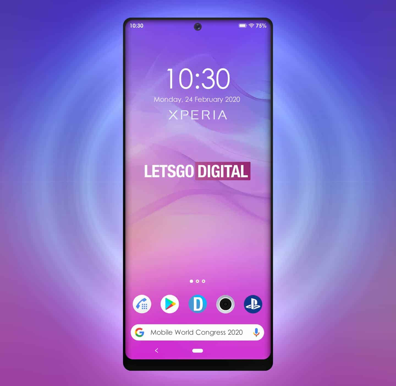 Sony 2020 smartphones possible design patent 3