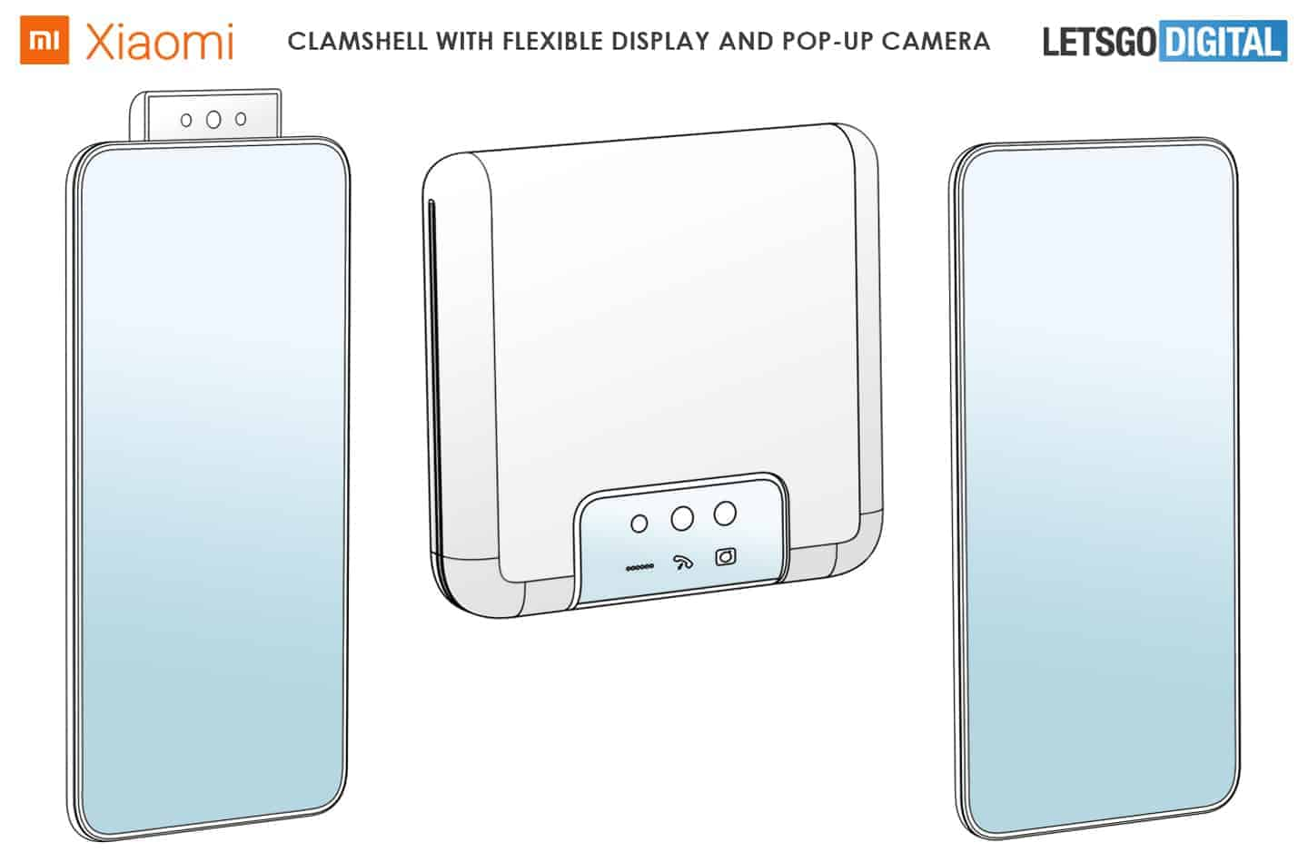 Xiaomi clamshell foldable with pop up camera image 1