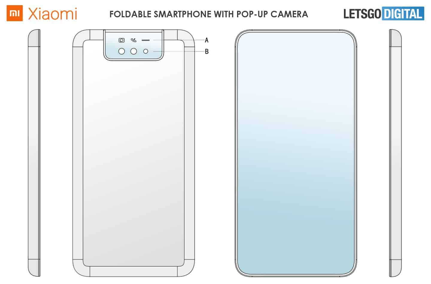 Xiaomi clamshell foldable with pop up camera image 2