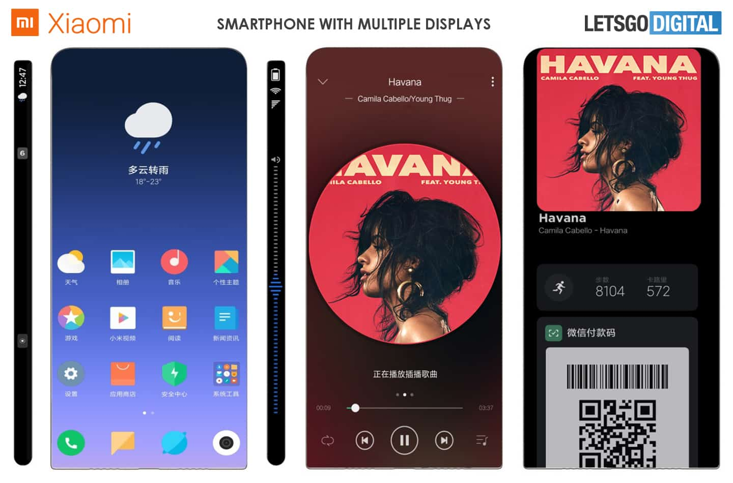 Xiaomi smartphone patent with surround display image 1