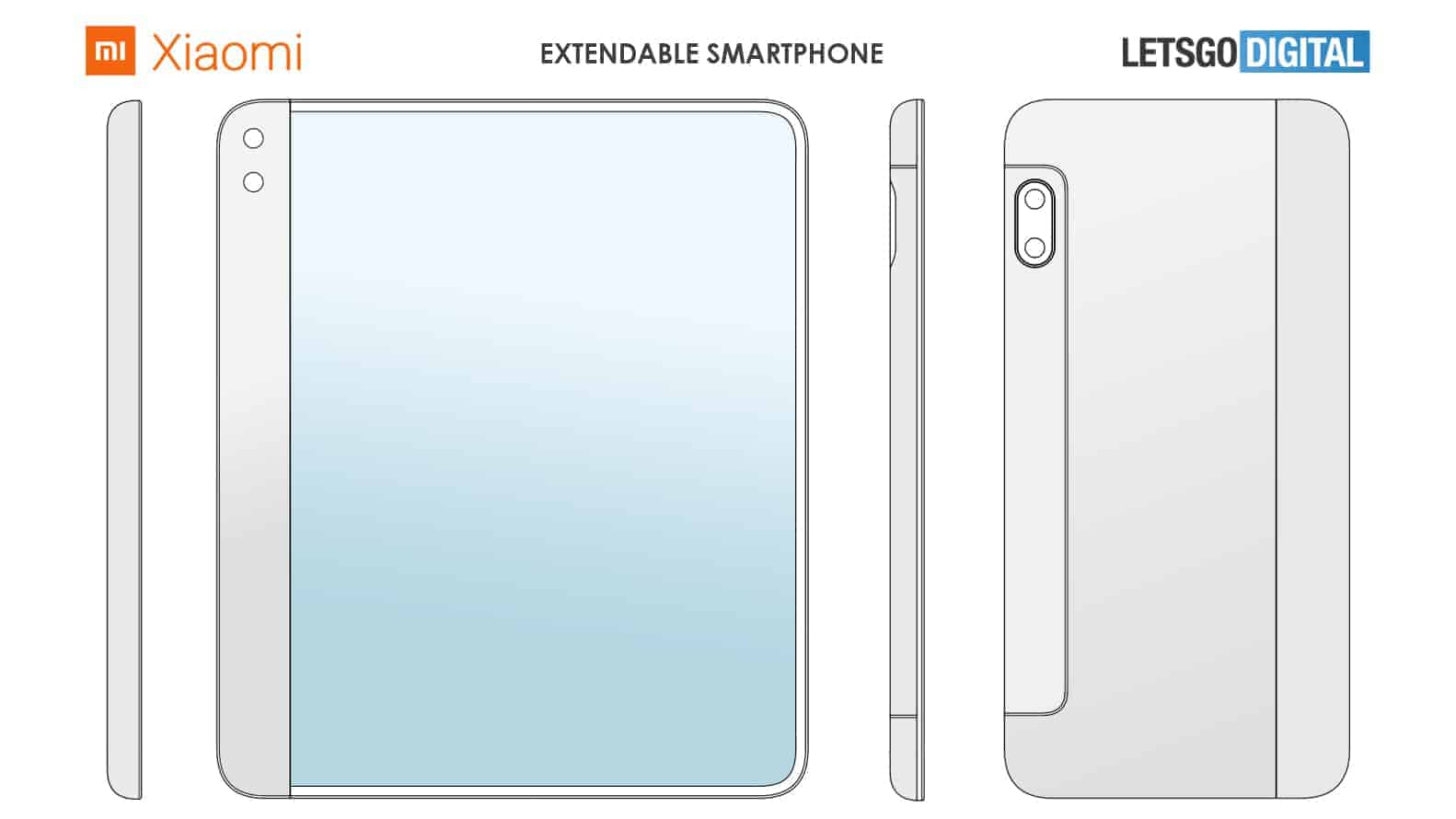 Xiaomi smartphone with extendable display patent 2