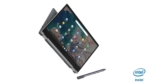 18_IdeaPad_Flex_5_Chromebook_13_Graphite_Grey_Right_Side_Between_Tablet_and_Tent_Mode_With_Pen