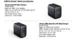AUKEY Omnia series chargers spec info 1