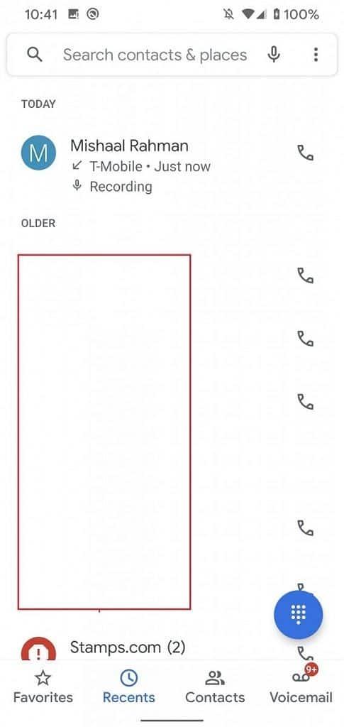 Google Phone Call Recording on Pixel 4