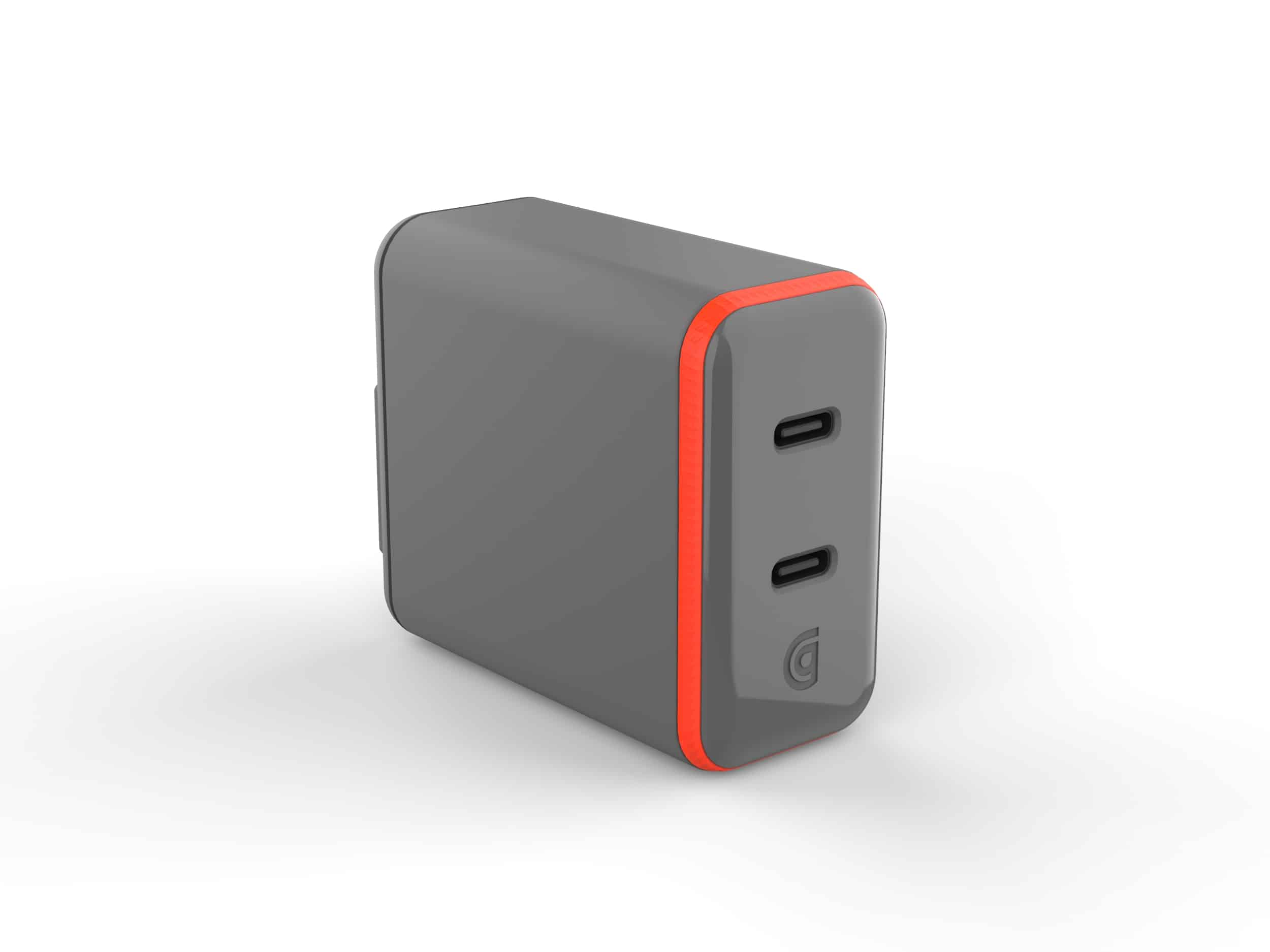 Griffin PowerBlock Dual 30W USB C PD Wall Charger with GaN Technology