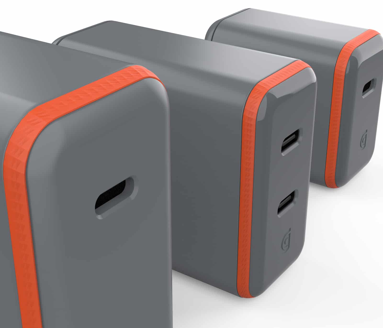 Griffin PowerBlock USB C PD Wall Chargers with GaN Technology Group Close Up