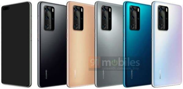 Huawei P40 Pro color options leak