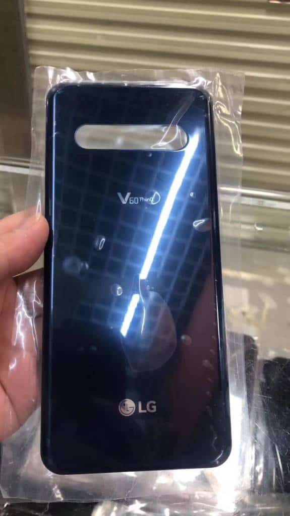 LG V60 ThinQ blue glass back leak 1