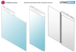 LG smartphone with flexible wrap-around display patent 1