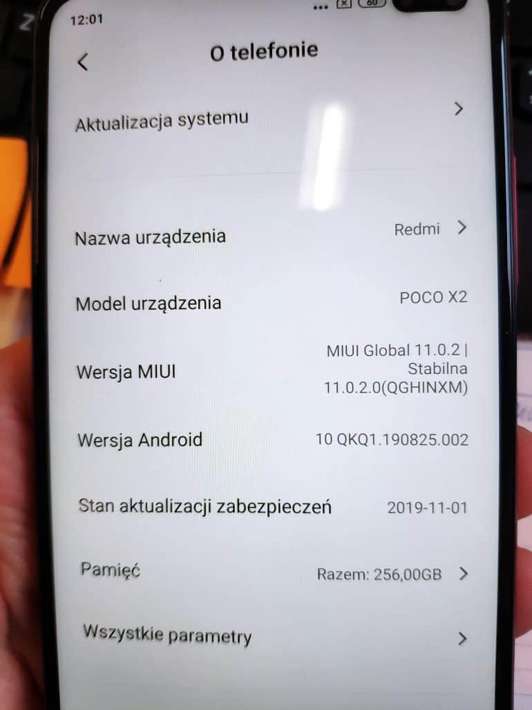 POCO F2 about phone leak