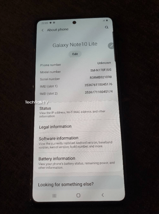 Samsung Galaxy Note 10 Lite live image leak 5