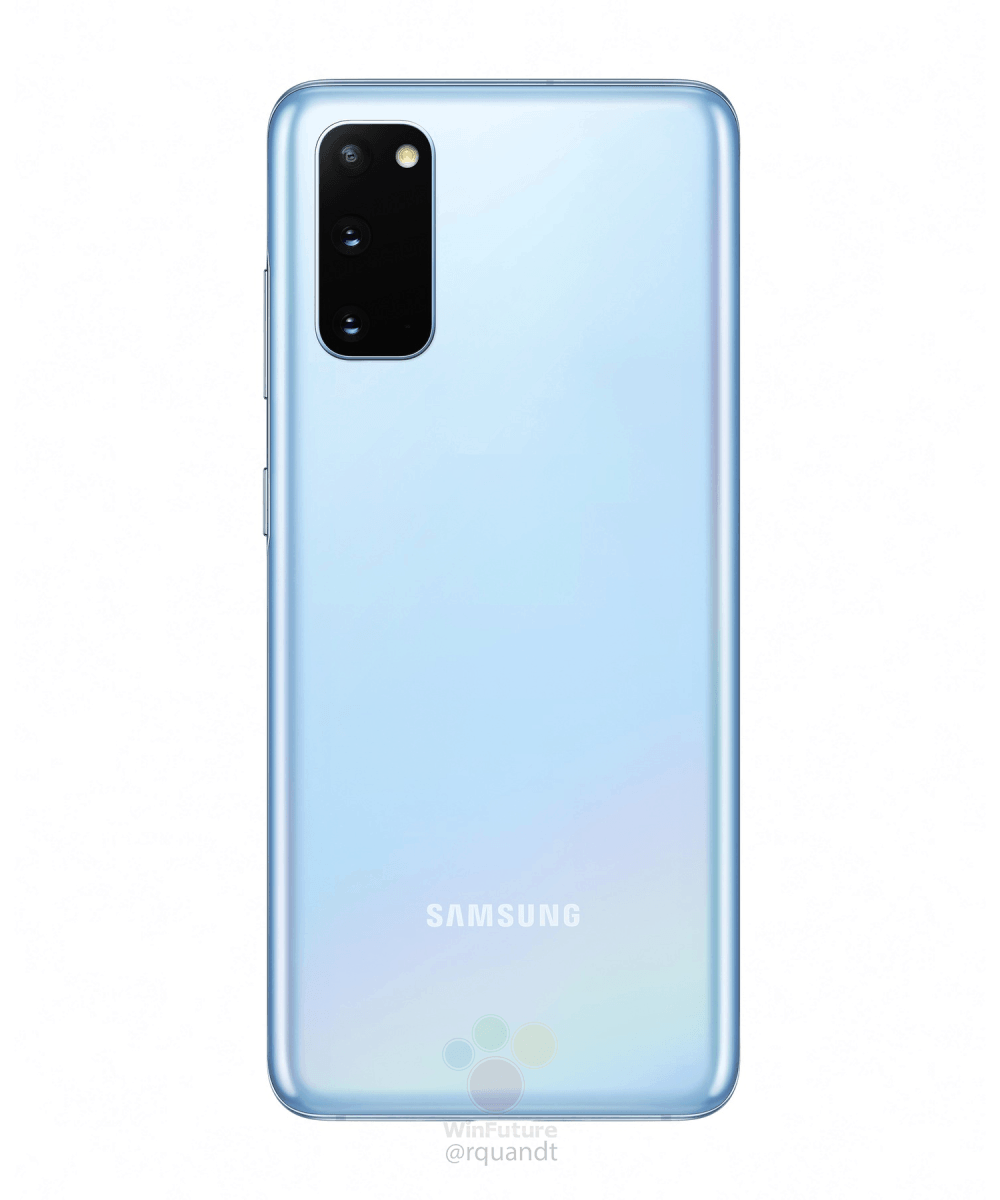 Samsung Galaxy S20 Cosmic Blue marketing image leak 3