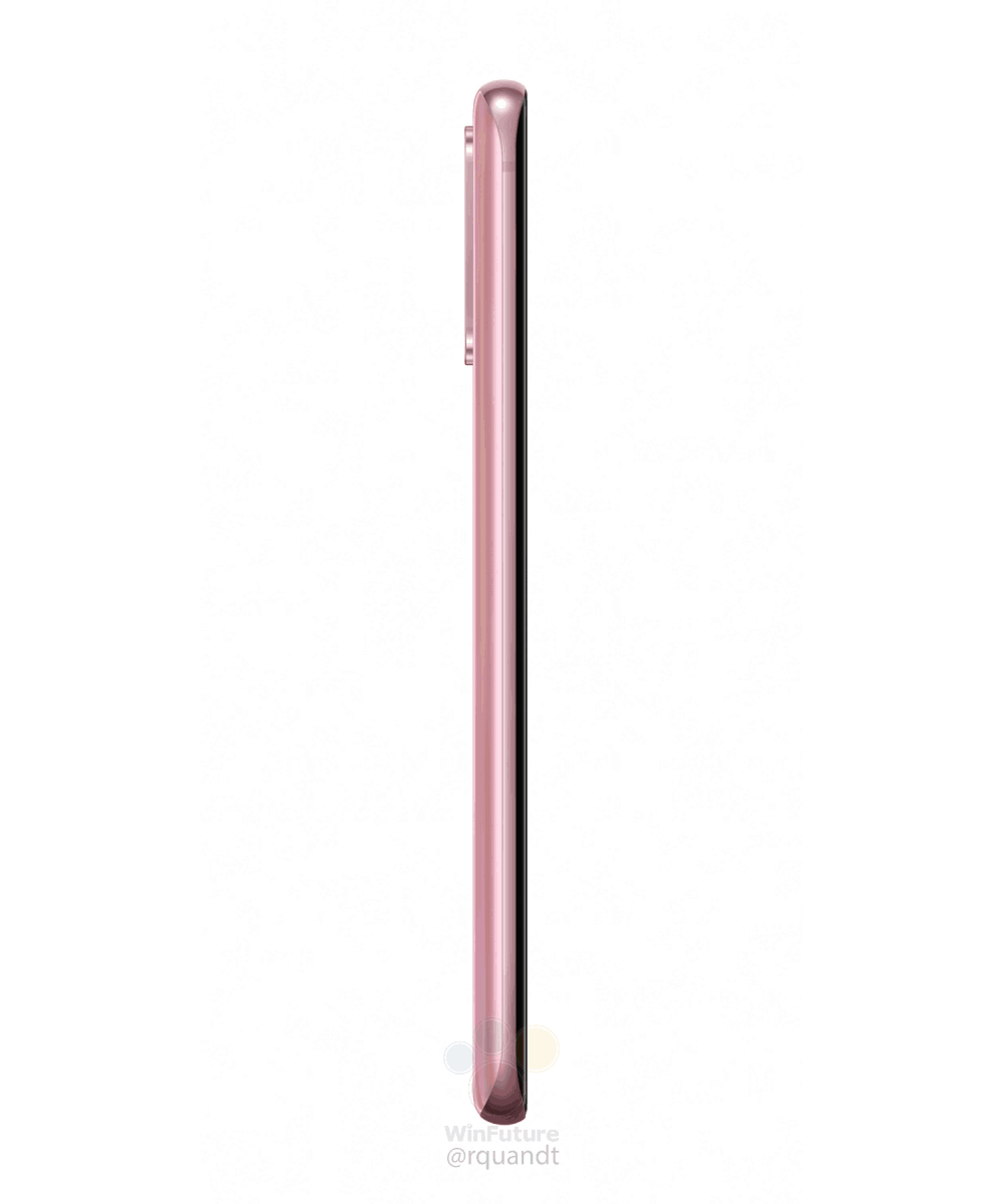 Samsung Galaxy S20 Cosmic Pink marketing image leak 2