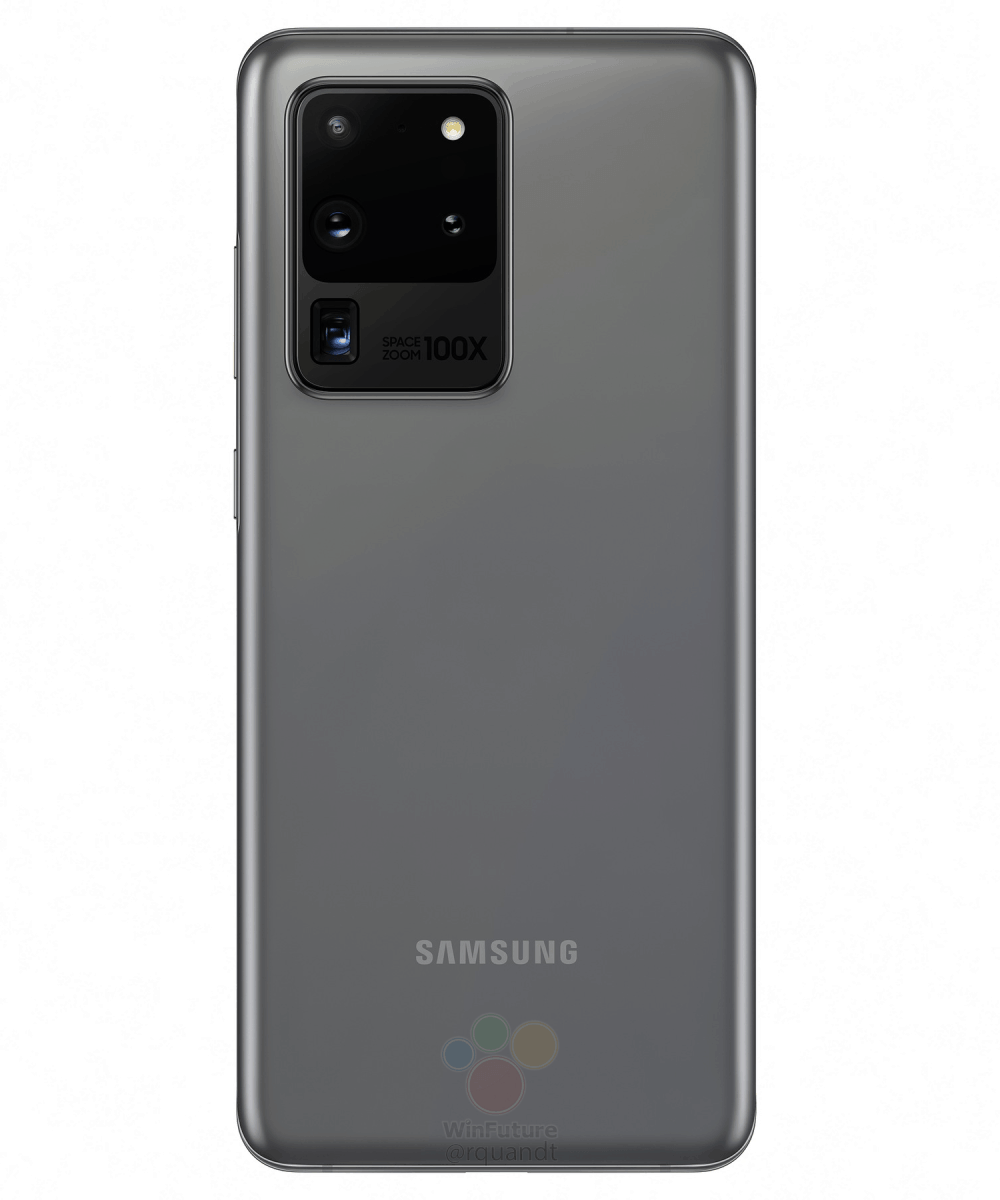 Samsung Galaxy S20 Ultra Cosmic Gray marketing image leak 1
