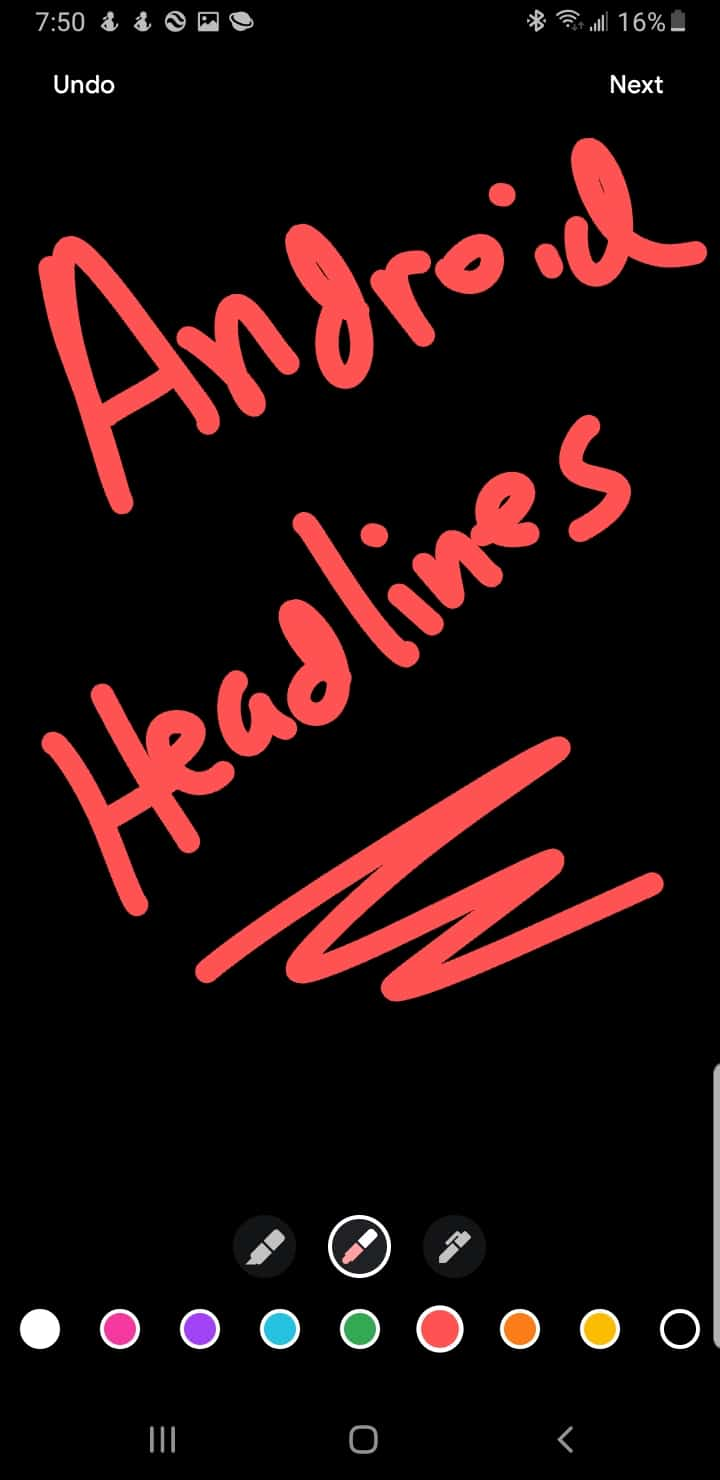 Google Duo Android Headlines send note