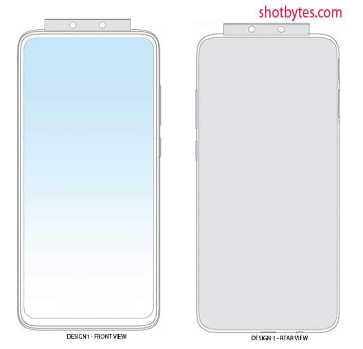 Xiaomi pop up camera design patent January 2020 image 1
