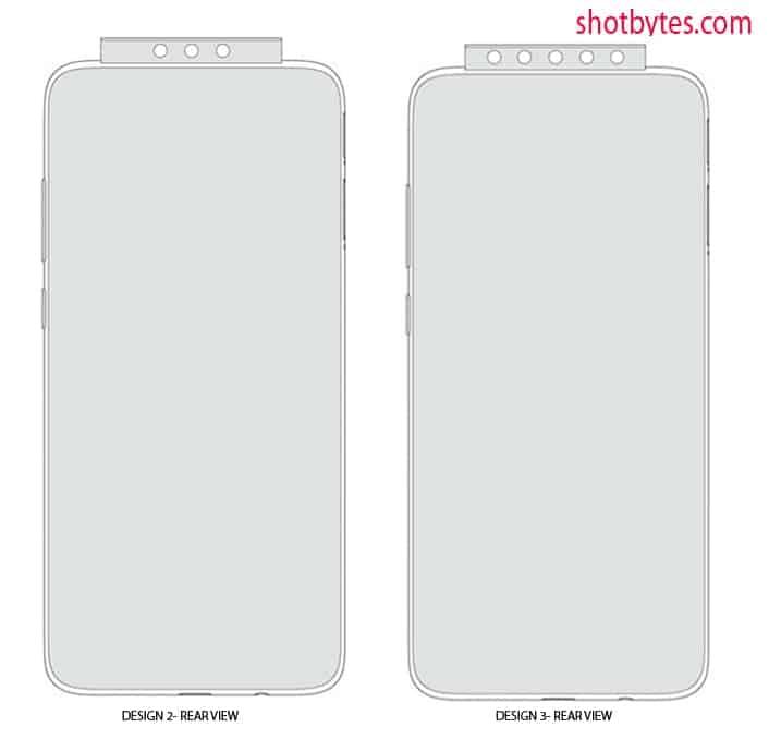 Xiaomi pop up camera design patent January 2020 image 2