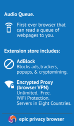 Epic Privacy Browser app image 2