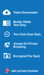 Epic Privacy Browser app image 3