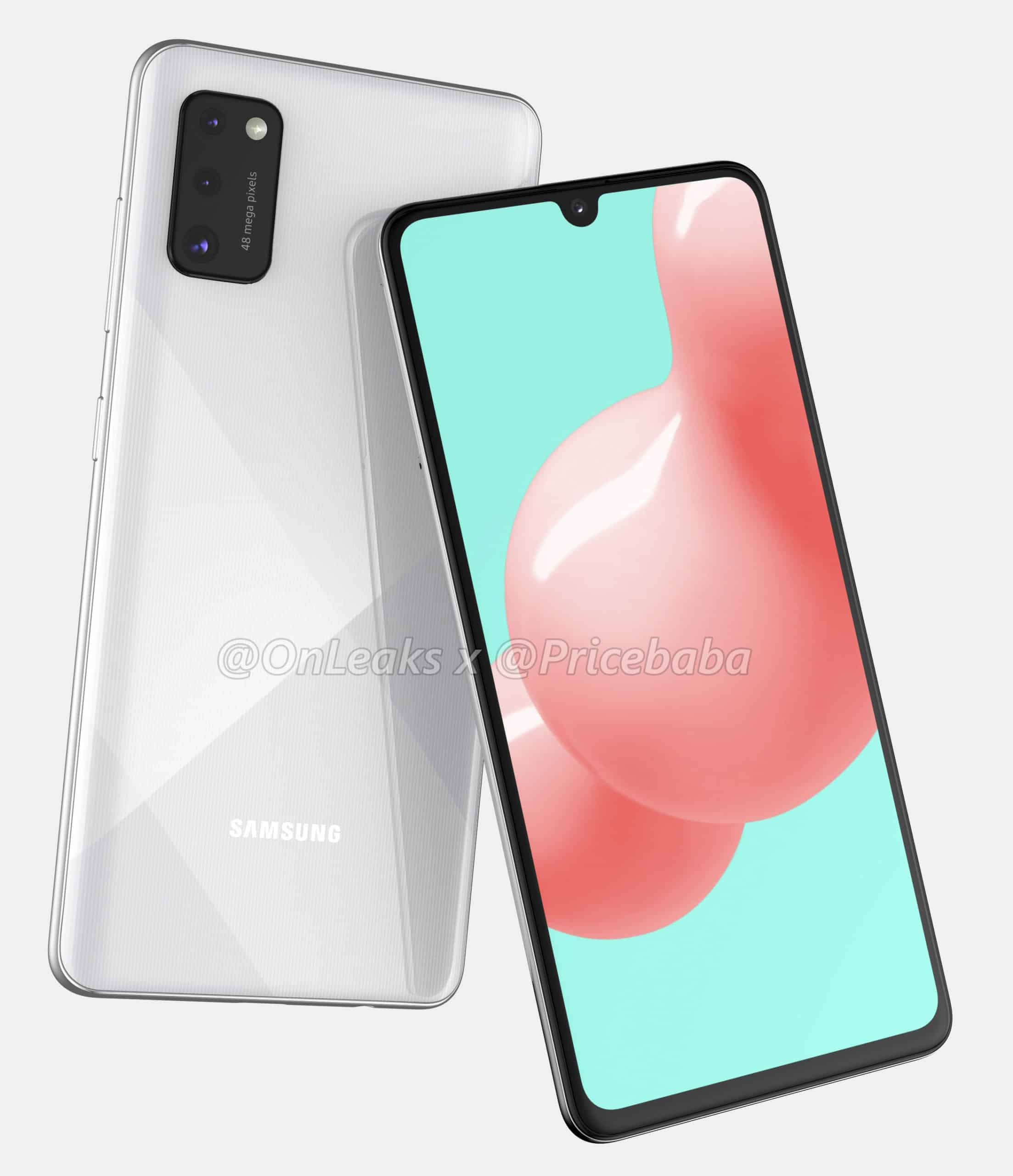 Galaxy A41 Renders white