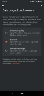 Stadia data settings (2)