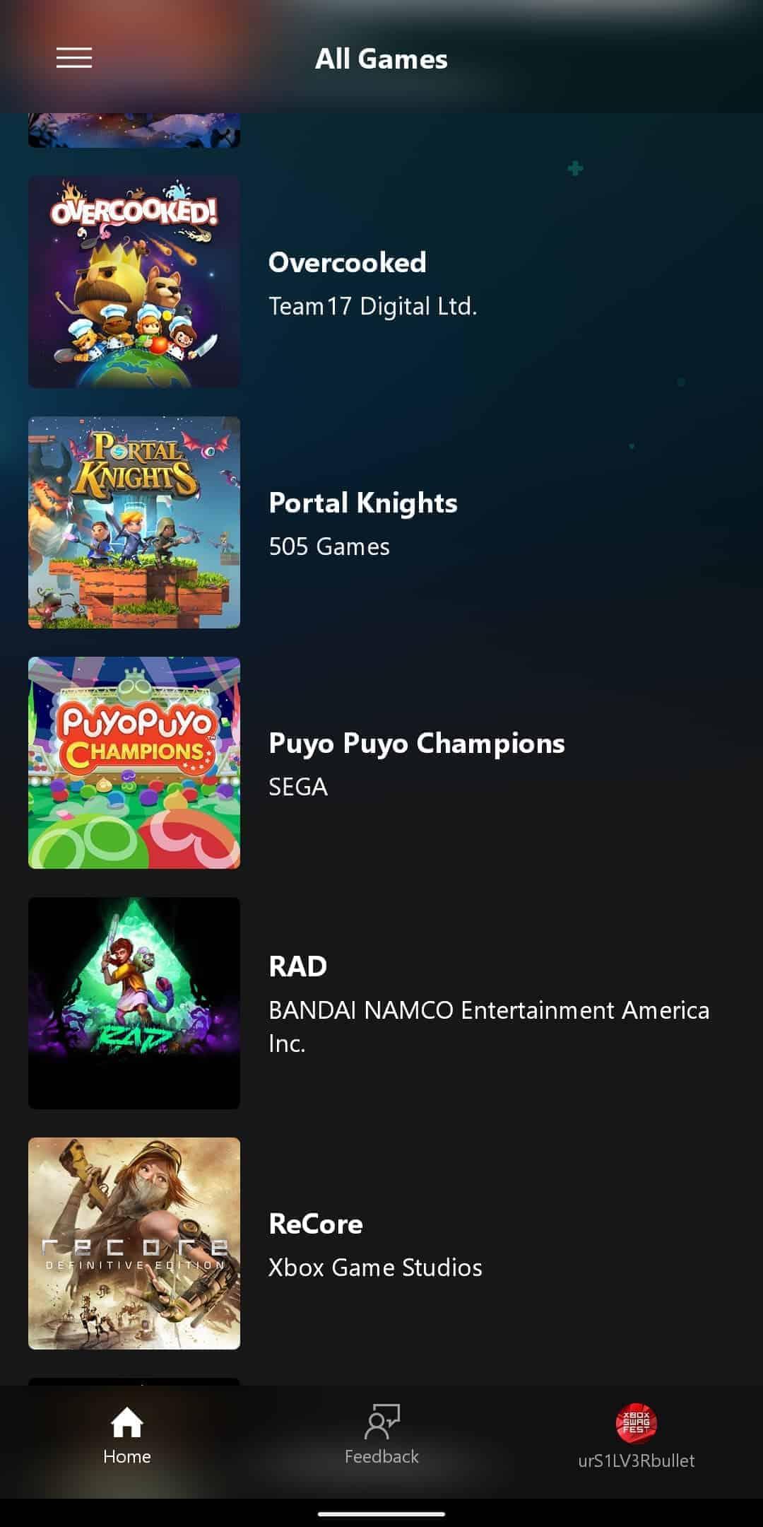 xCloud Games List 13