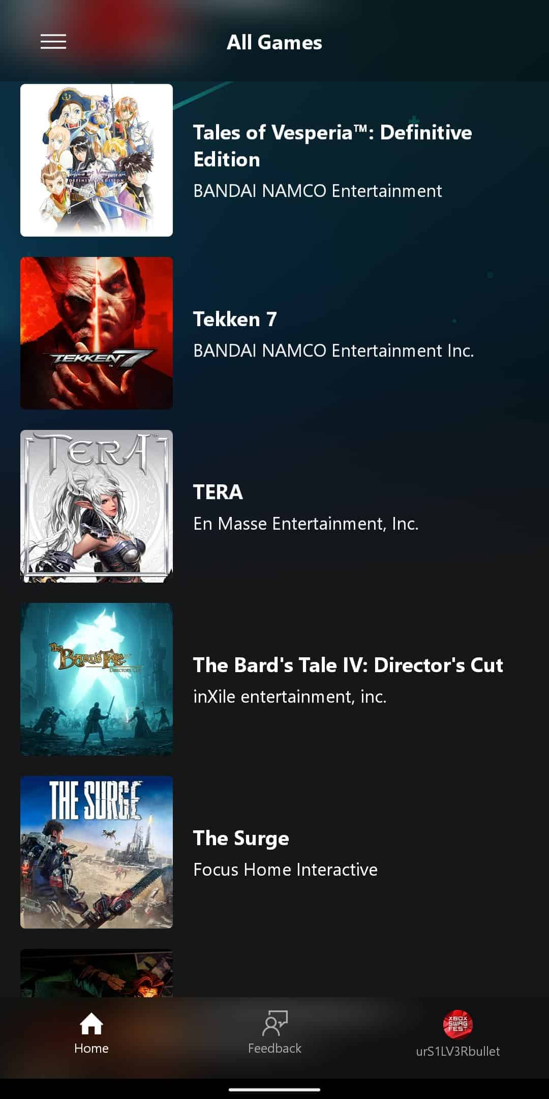 xCloud Games List 16