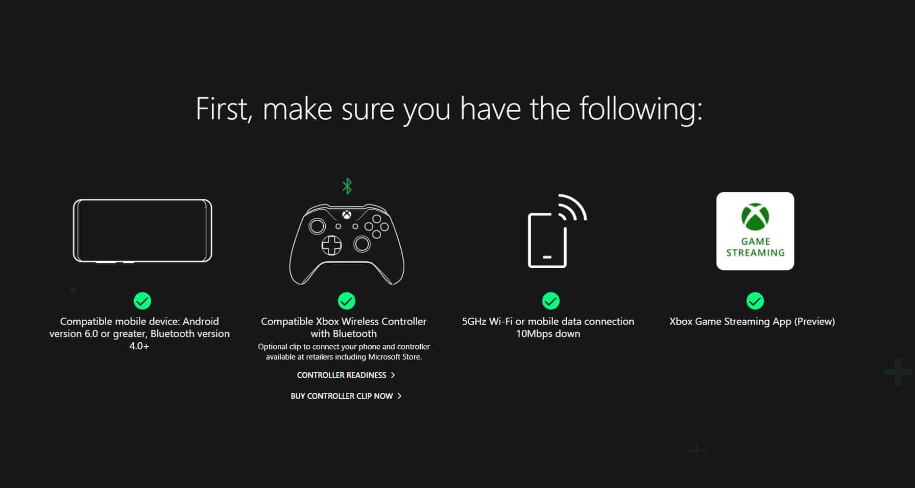 xCloud Requirements
