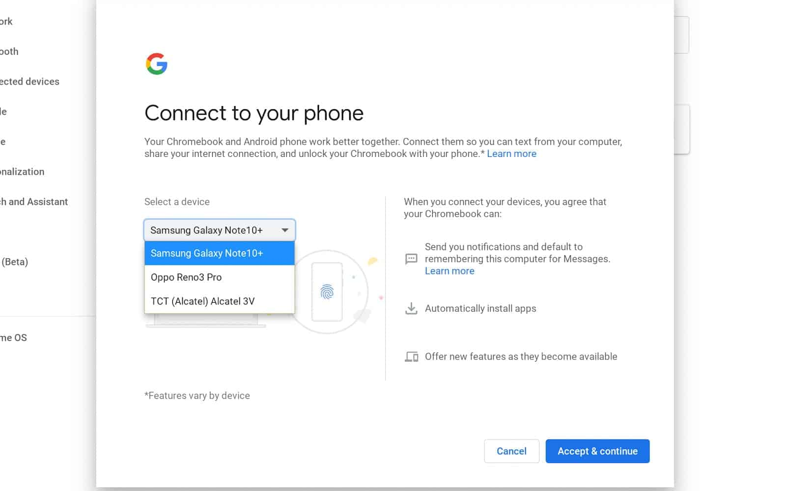 Chromebook how to smart lock messaging 03