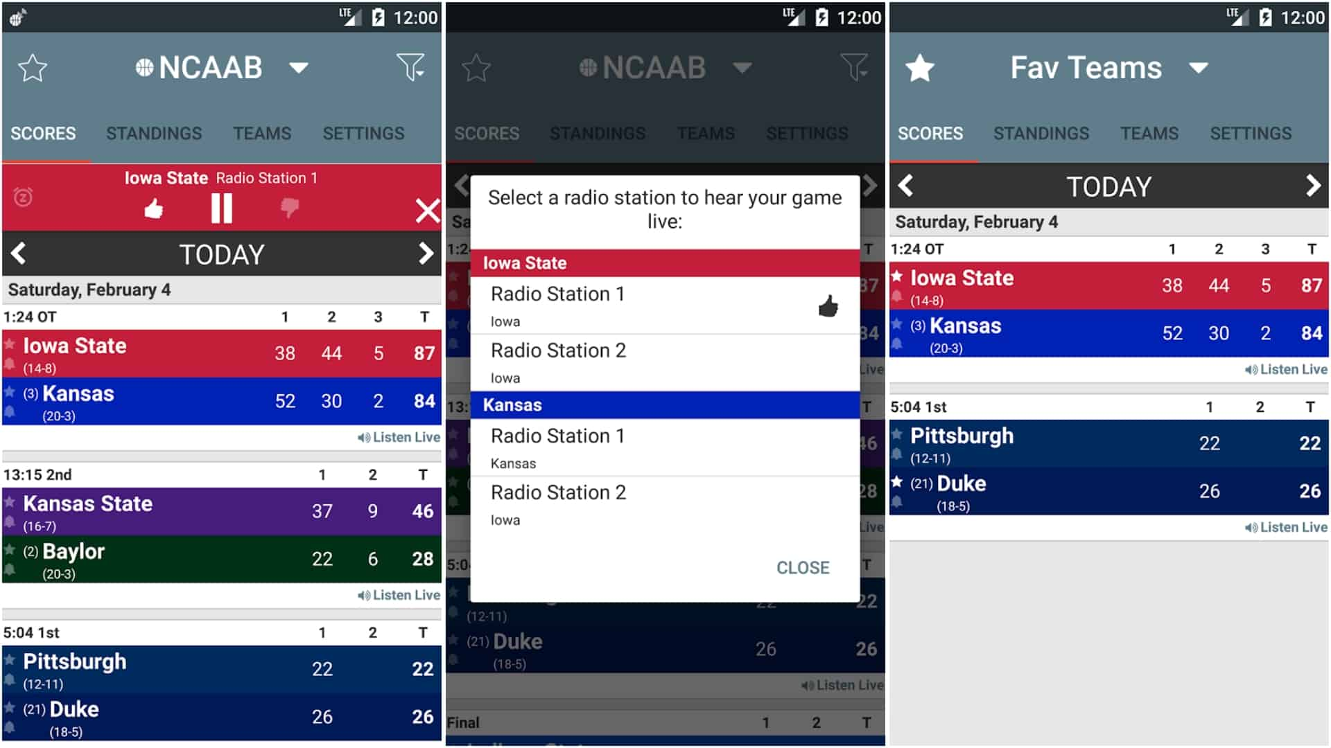 College Basketball Radio app image March 2020