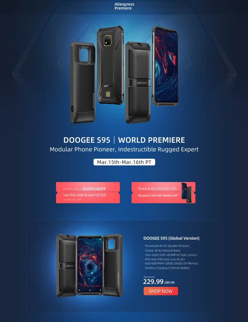 DOOGEE S95 available 6