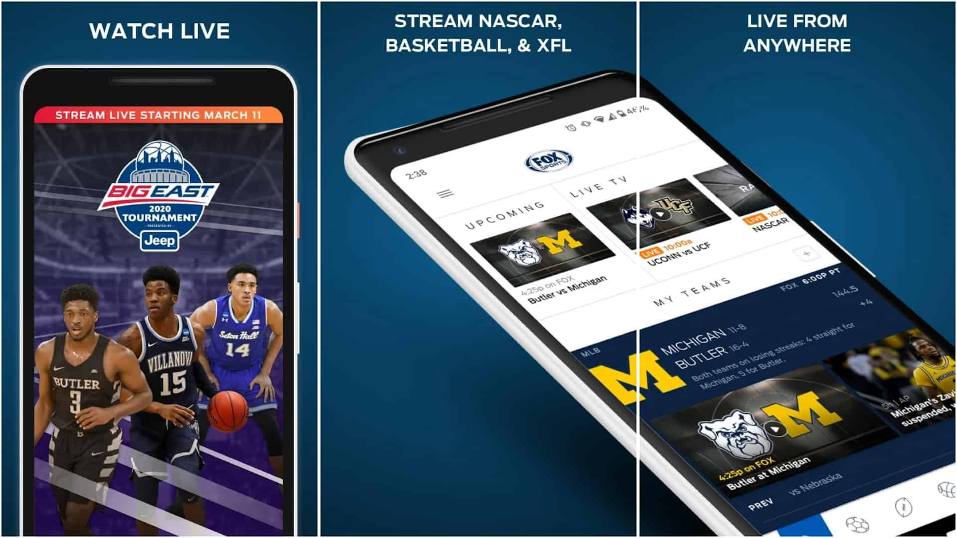 FOX Sports app image March 2020