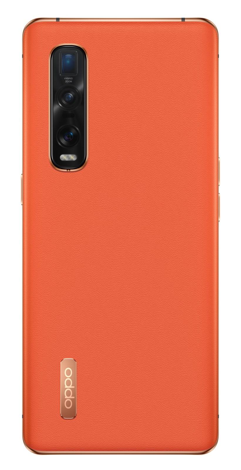 Find X2 Pro Orange Vegan Leather 03