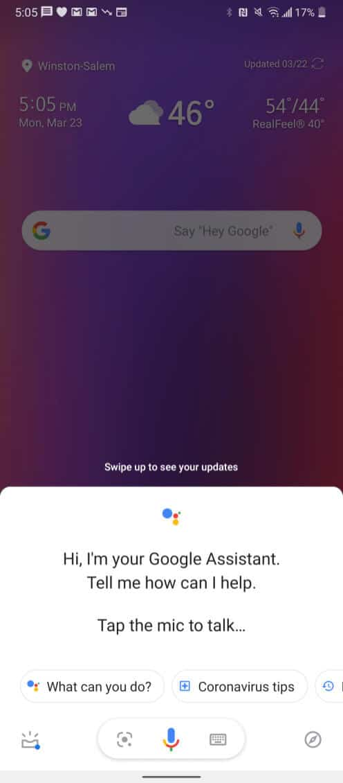 Google Assistant coronavirus screenshot 01 from 9to5Google